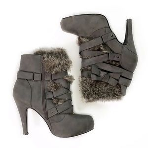 JustFab • Everly Furry Heeled Boots